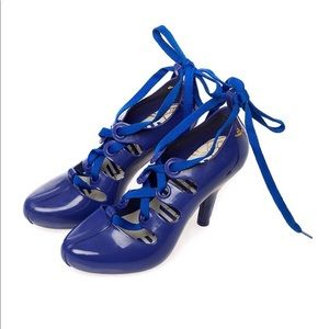 VIVIENNE Westwood Melissa Gillie Lace Up Heel Blue
